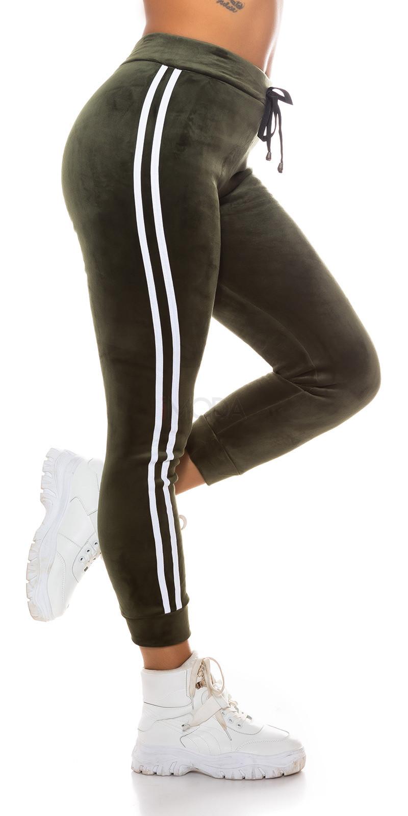 Zelené zateplené teplákové nohavice-229671-316