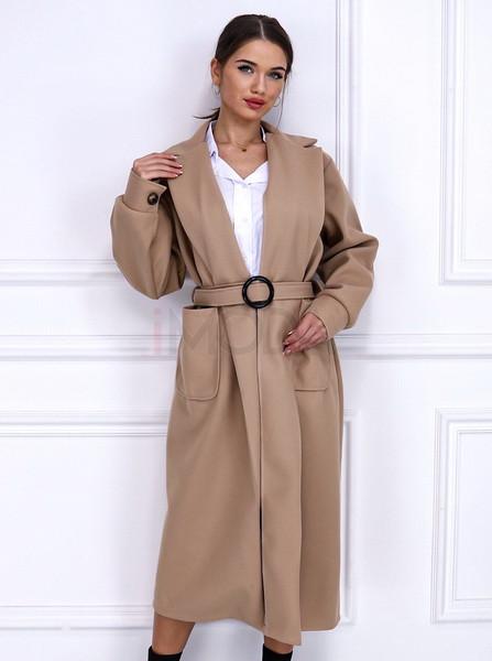 Béžový dlhý kabát-255916-33
