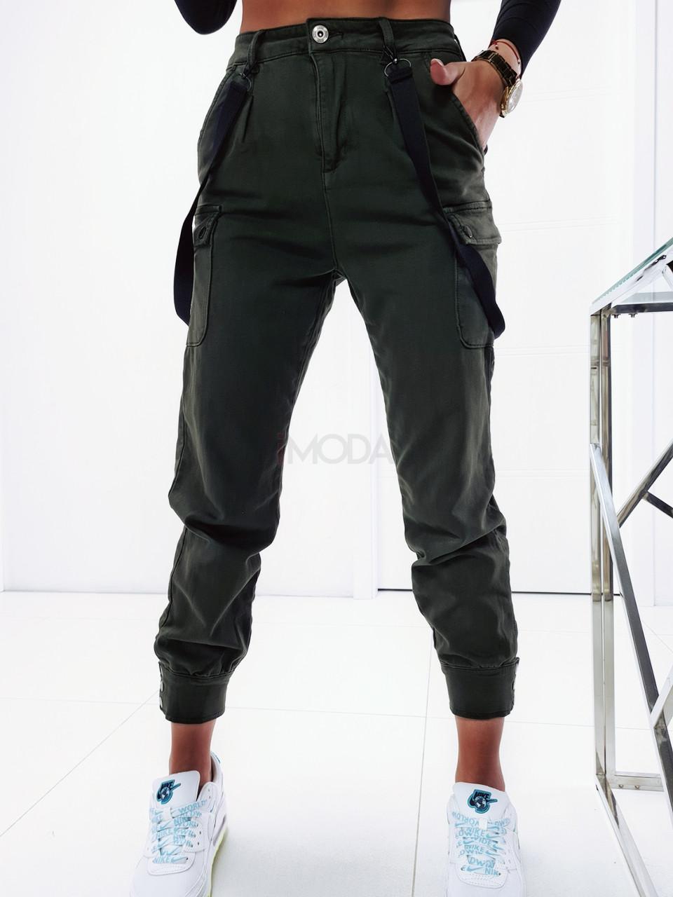 Zelené trendy nohavice-226077-32