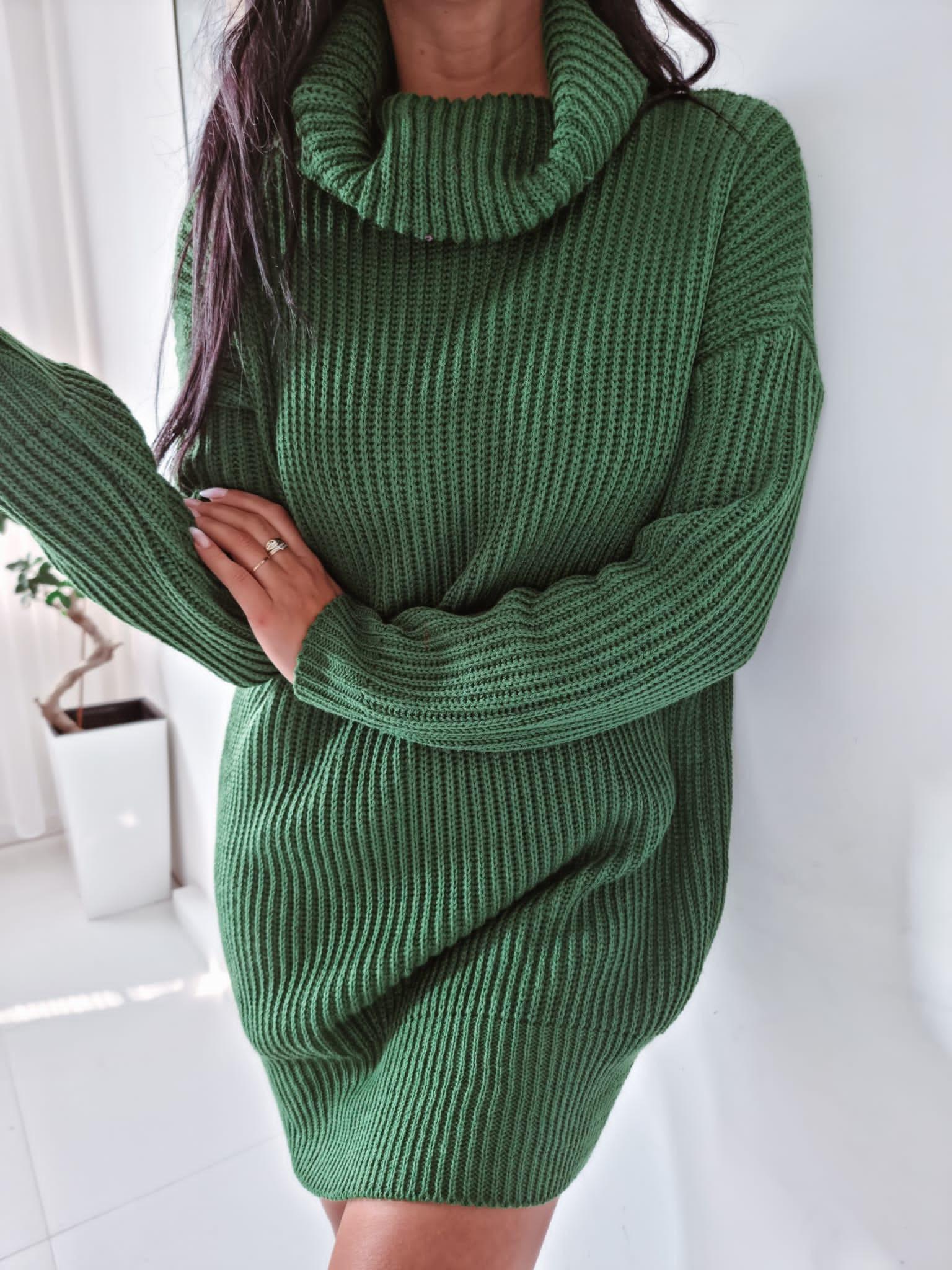 Zelený oversize sveter-255930-34