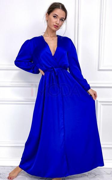 Mordé dlhé saténové šaty-255902-35