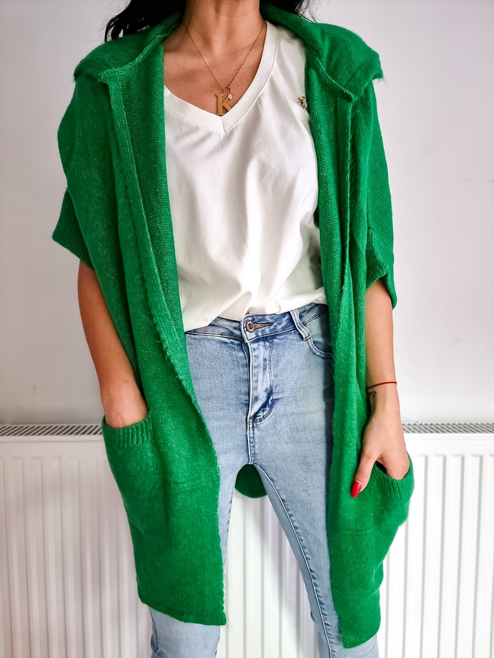 Zelený kardigán s kapucňou-231589-34