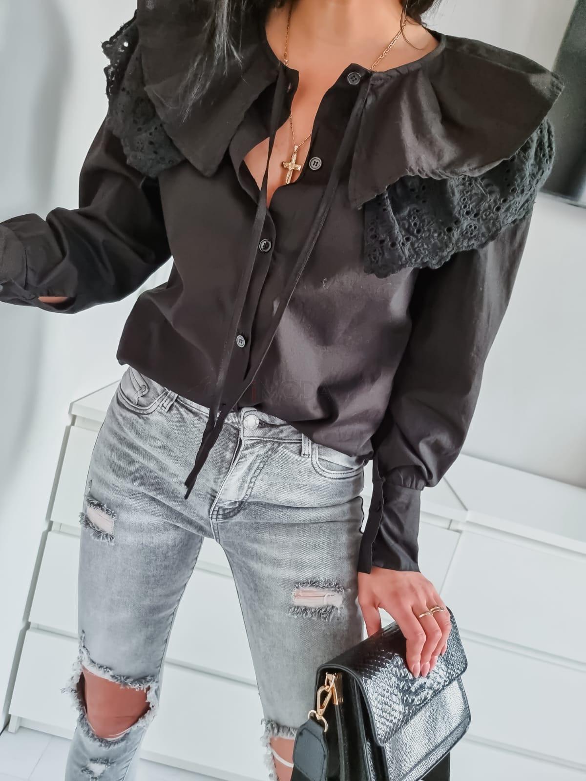 Čierna trendy košeľa-236578-31