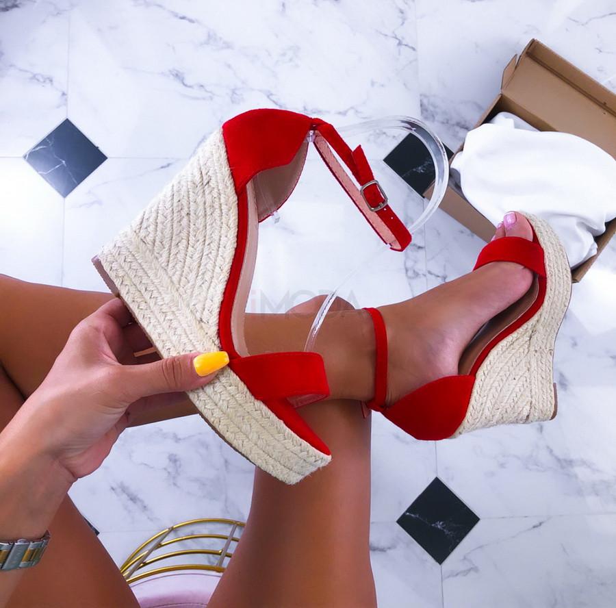 Červené sandále na platforme-211488-31