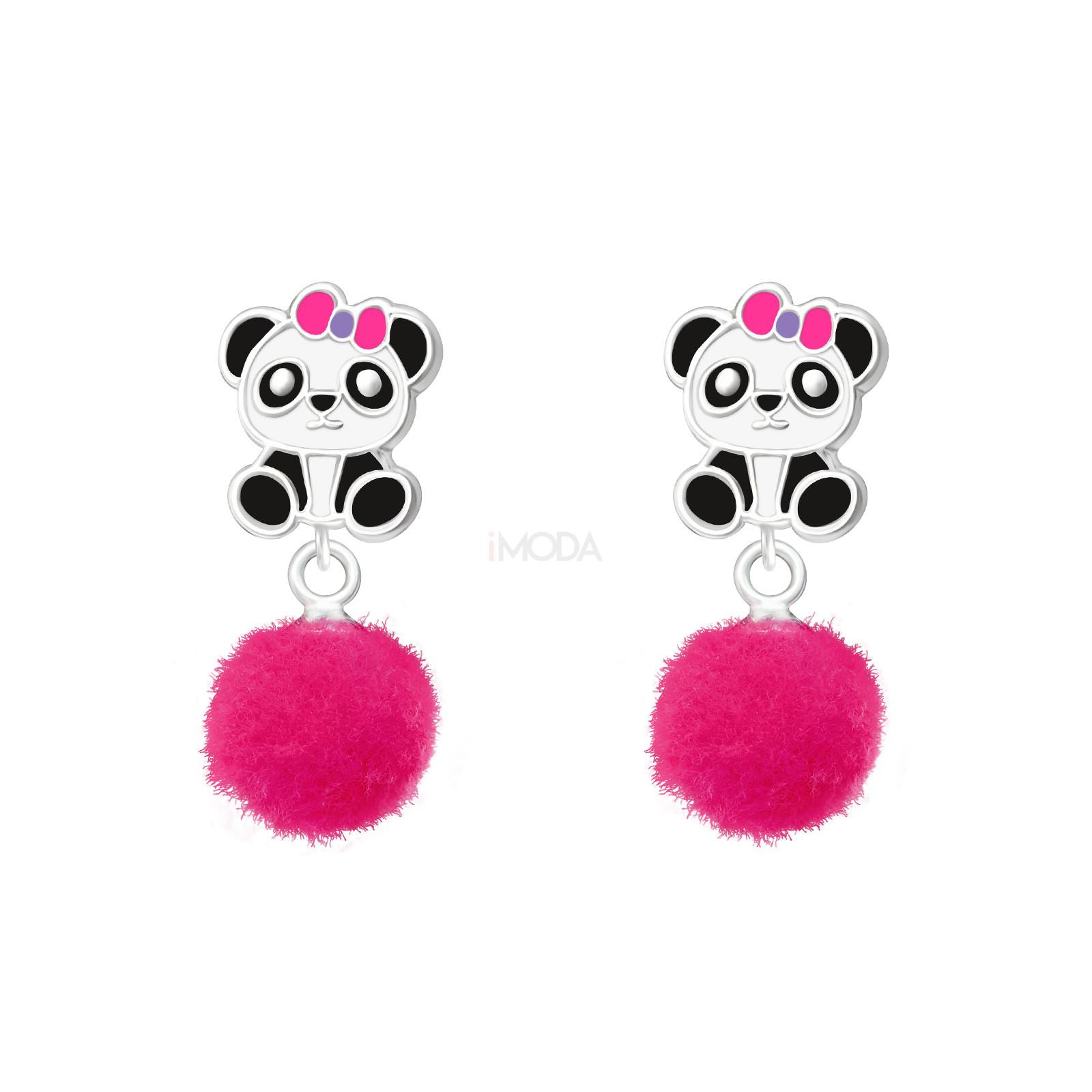 Detské strieborné náušnice panda-232079-31