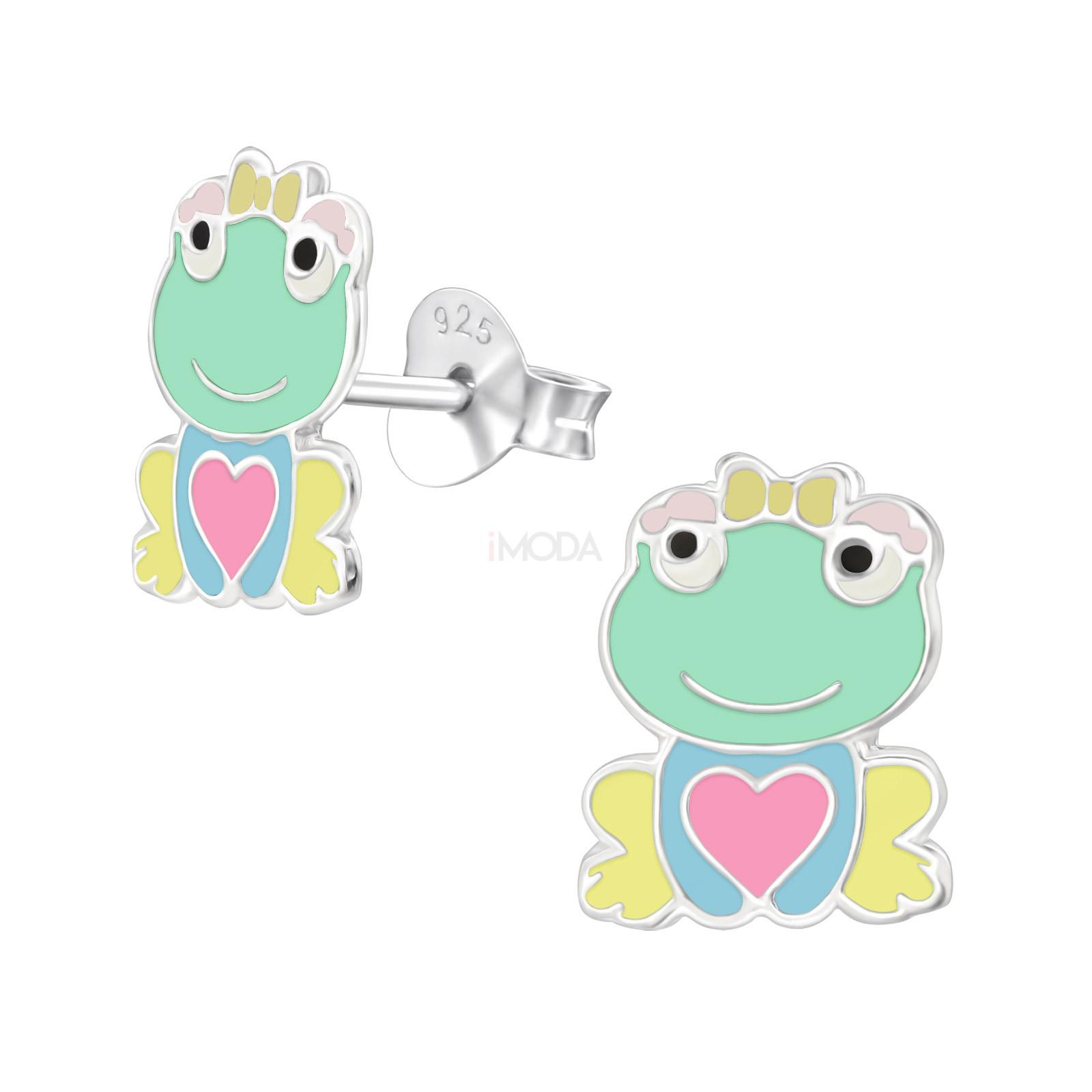 Detské strieborné náušnice žabka-232056-31