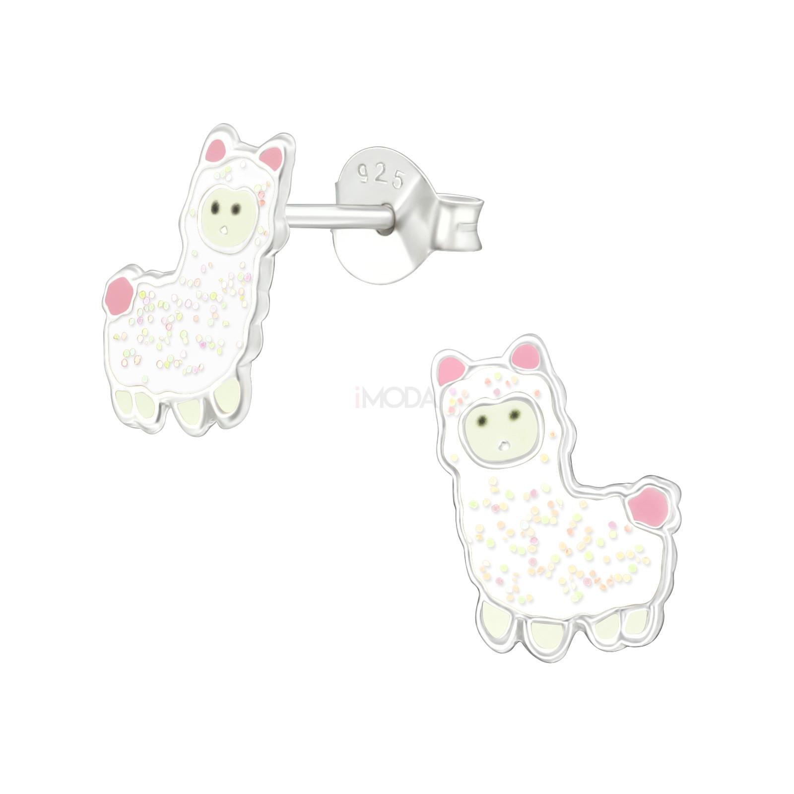 Detské strieborné náušnice lama-232013-31