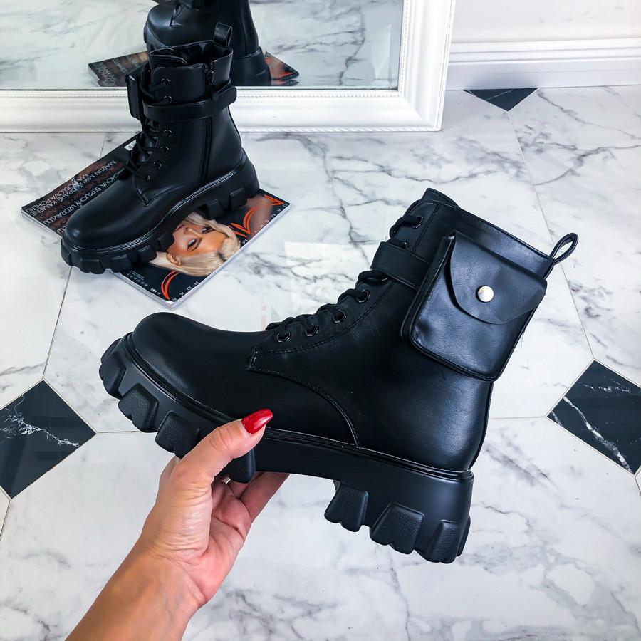 Čierne nízke čižmy s kapsičkou-219946-38