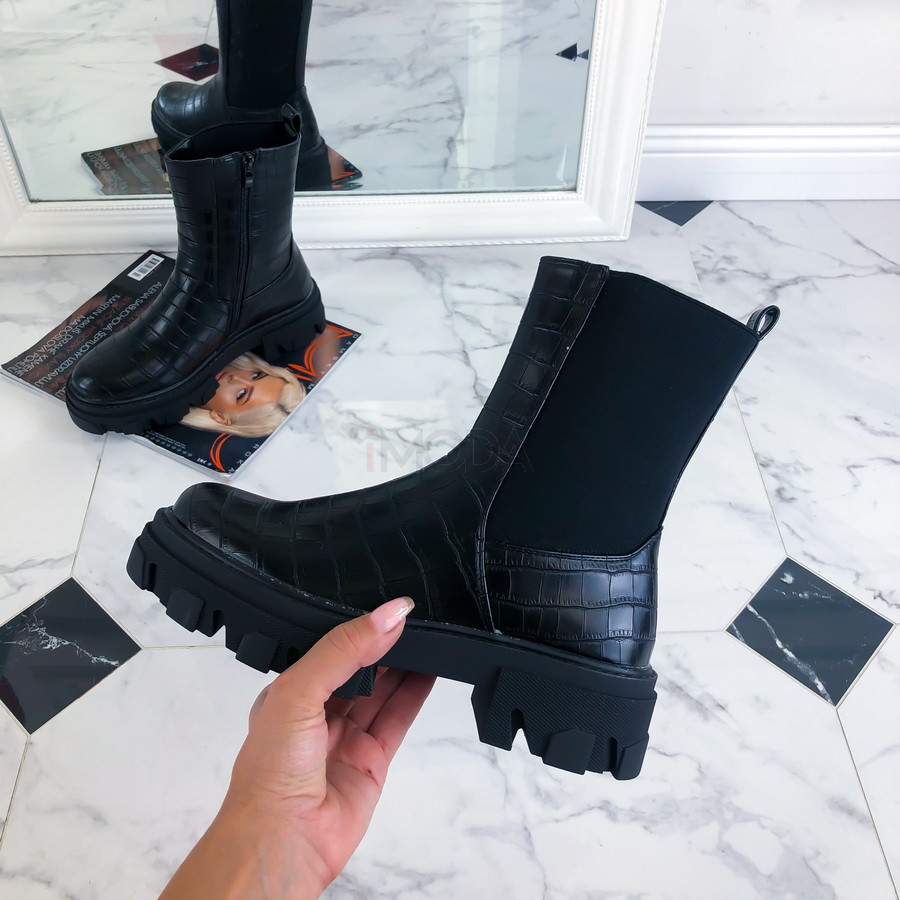 Čierne nízke čižmy-220089-32
