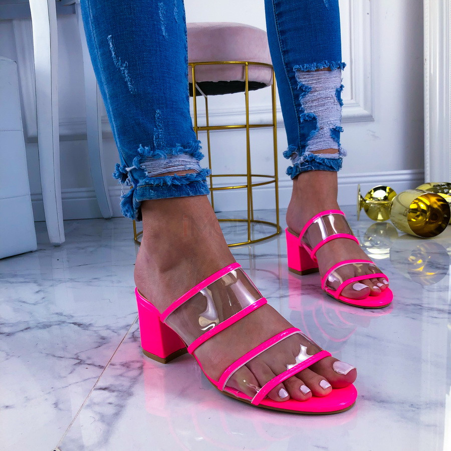 Neónovo ružové sandálky-209561-31