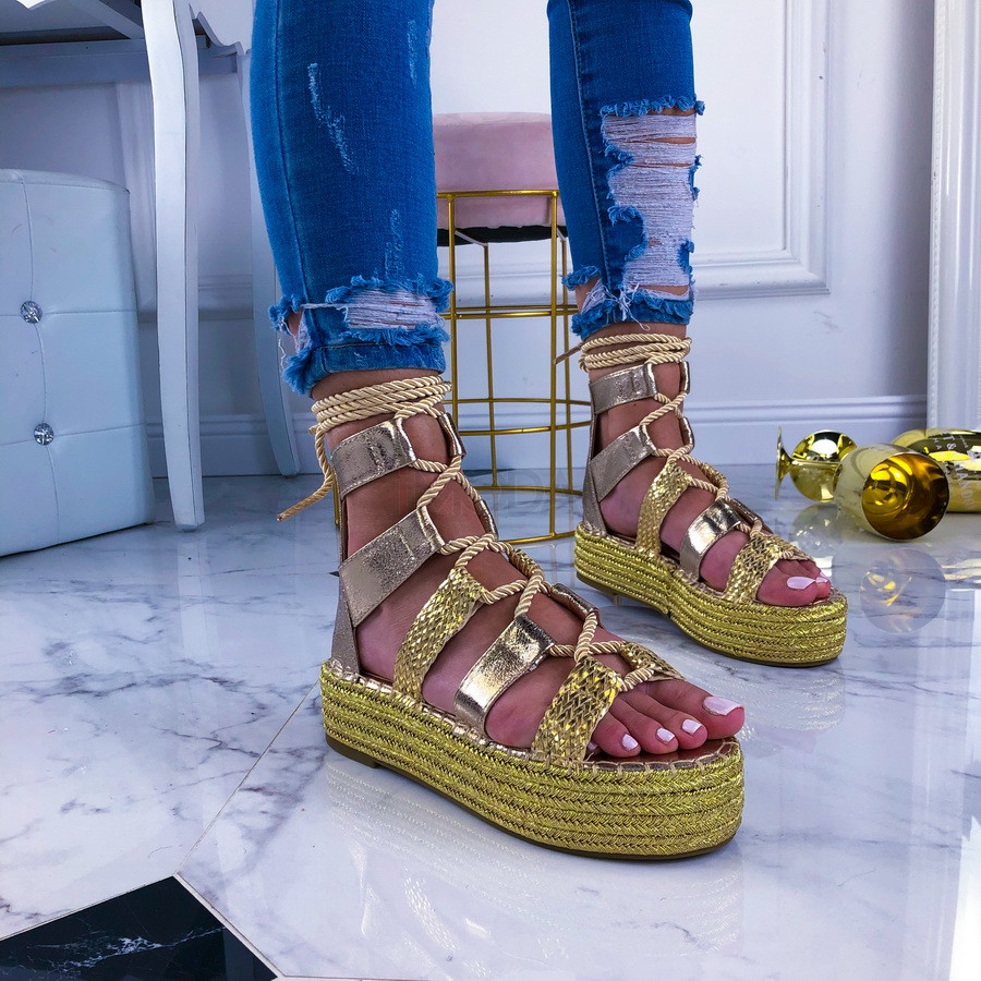 Zlaté dámske sandálky-209420-31