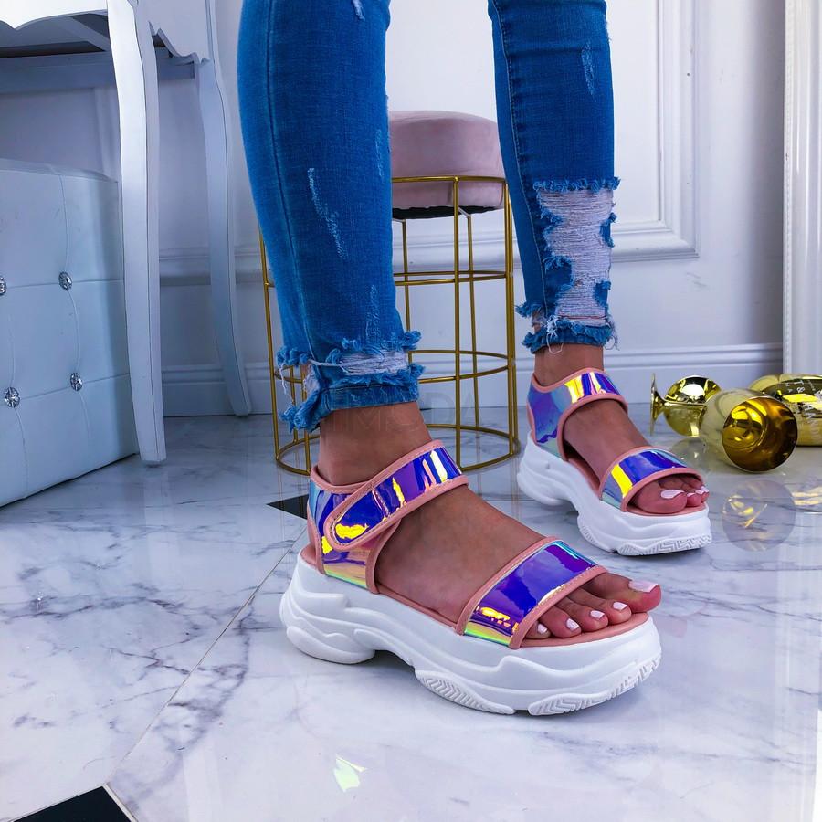 Ružové sandálky na platforme-209633-31