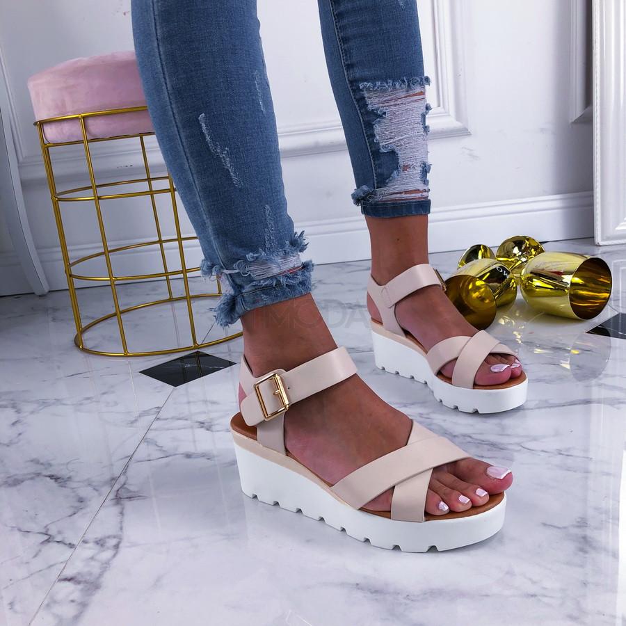 Béžové sandálky na platforme-210316-33
