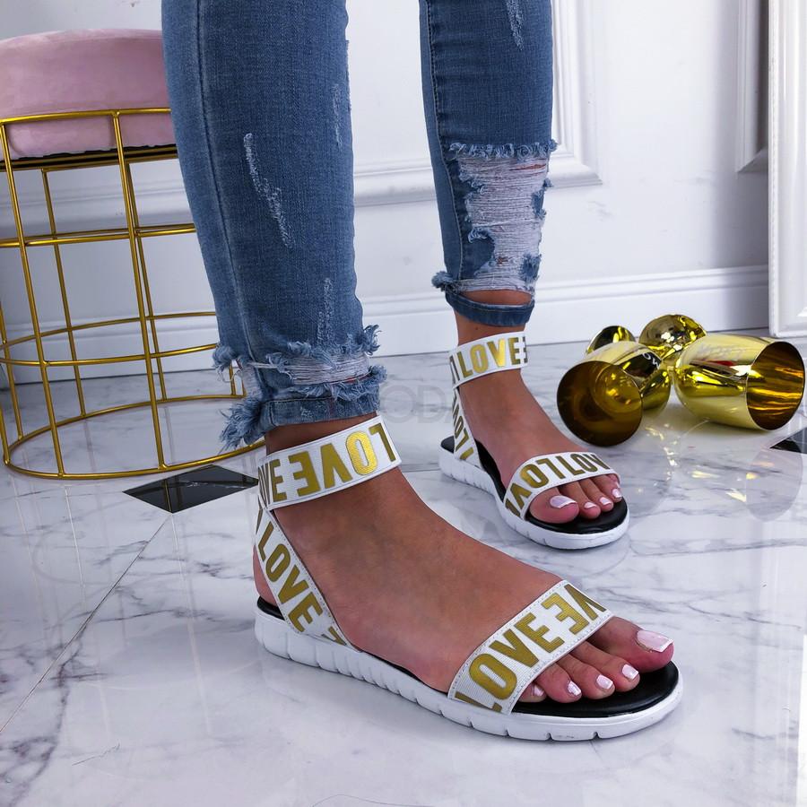 Bielo-zlaté dámske sandálky-210391-32