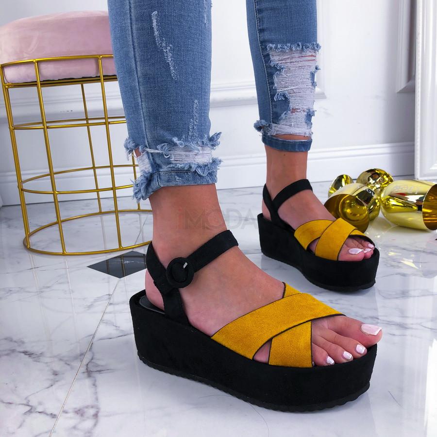 Žlté sandálky na platforme-210216-34