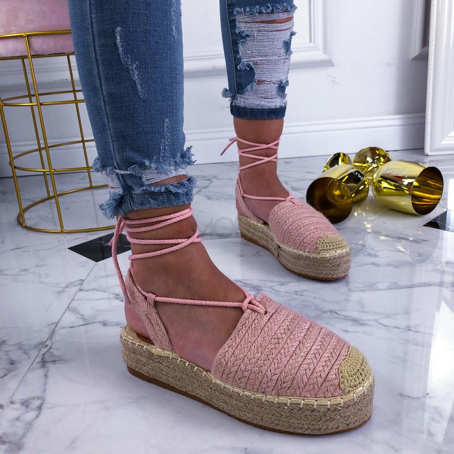 Ružové šnurovacie sandálky-210130-32