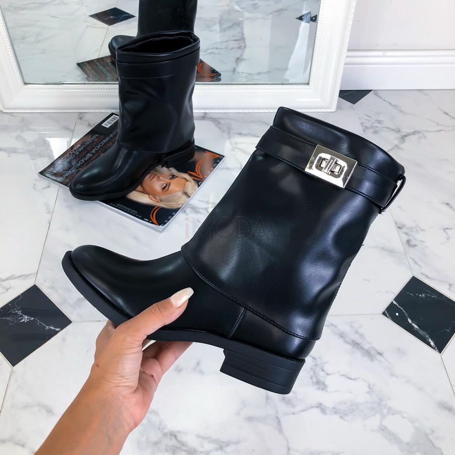 Čierne nízke čižmičky-217219-33