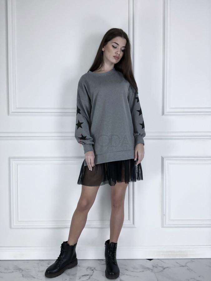 Sivé oversize šaty-225825-32