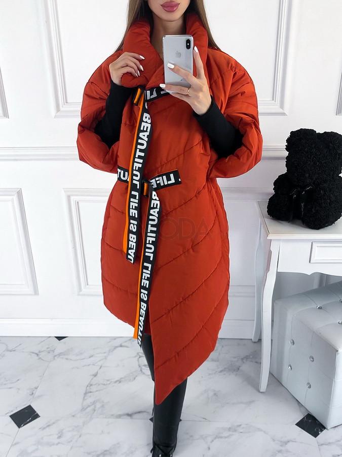 Oranžová oversize vetrovka-222874-33