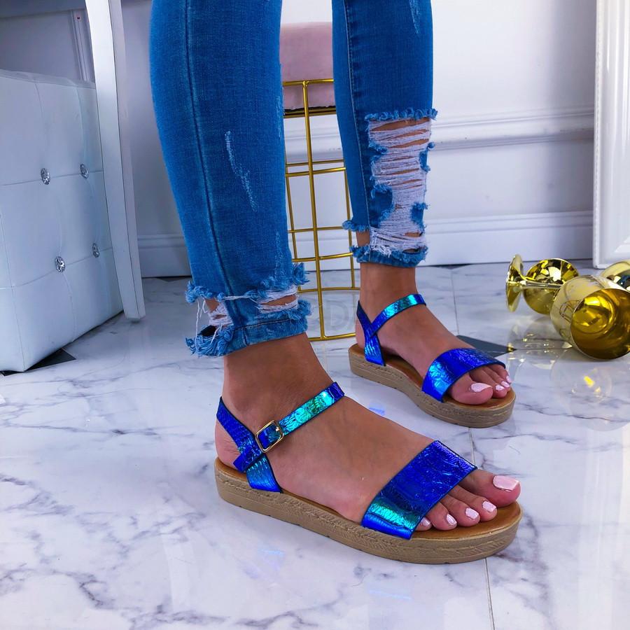Modré holografické sandálky-210943-32