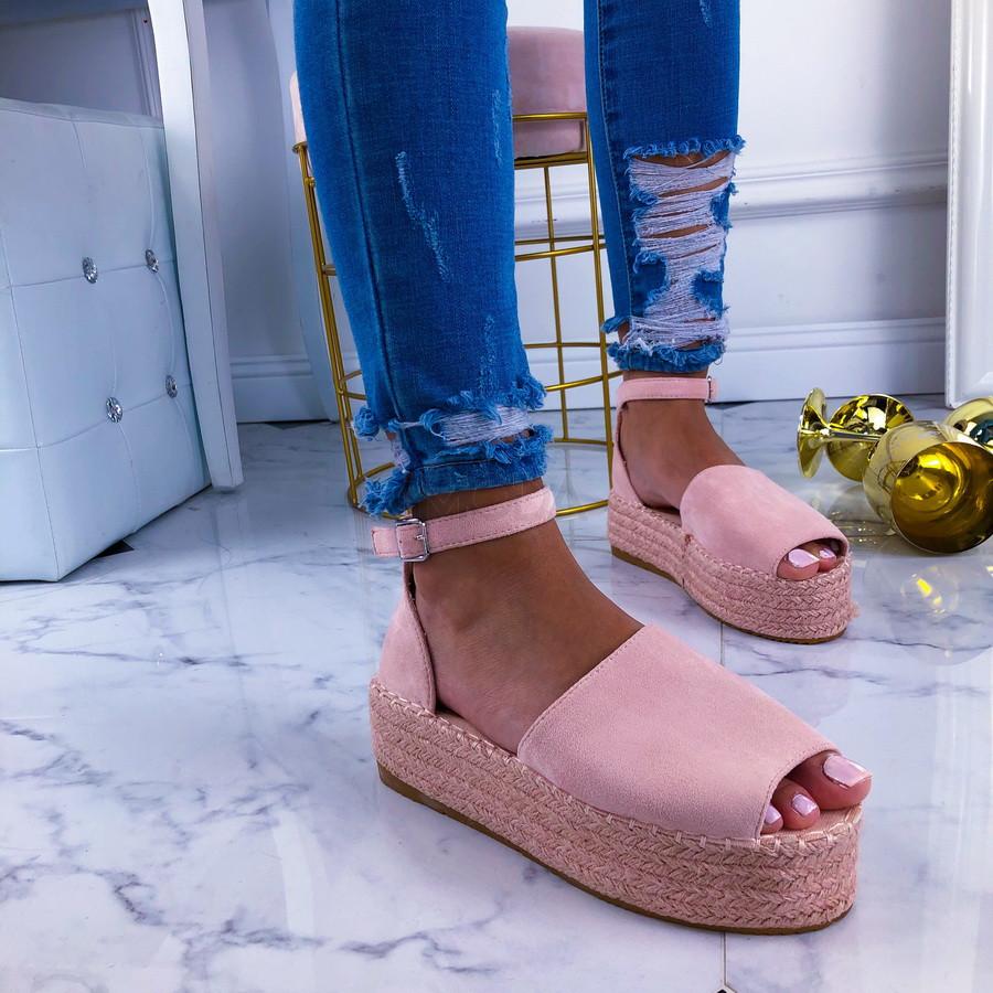 Ružové dámske sandále-210894-34