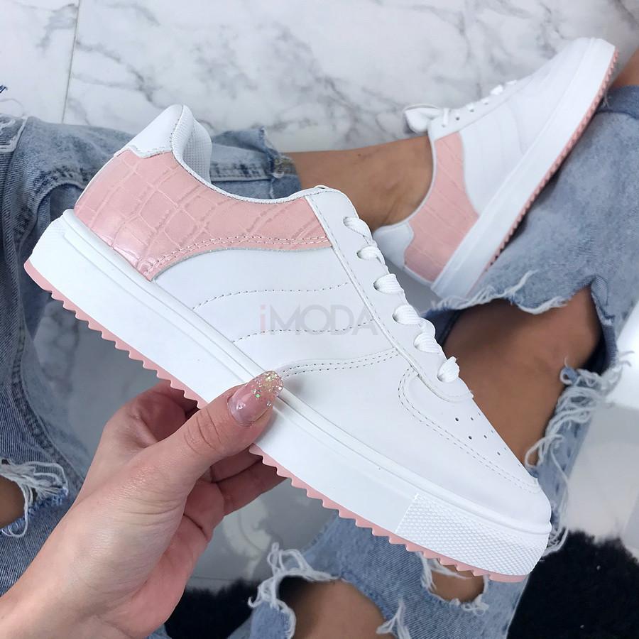 Bielo-ružové dámske tenisky-200529-31