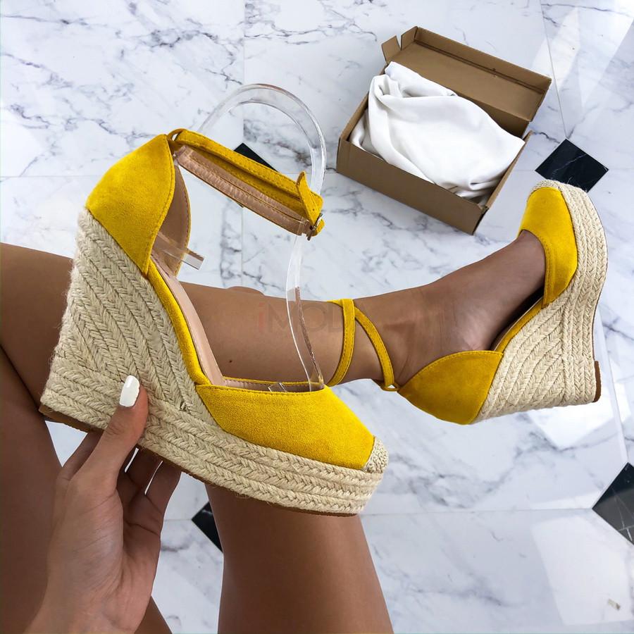 Žlté sandále na platforme-212490-32