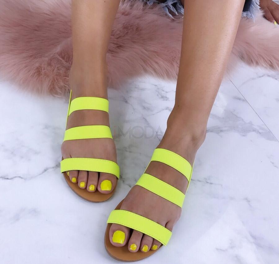 Dámske neónové sandále-184813-32