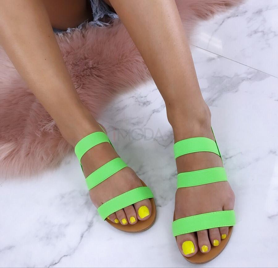 Dámske zelené sandálky-184854-32