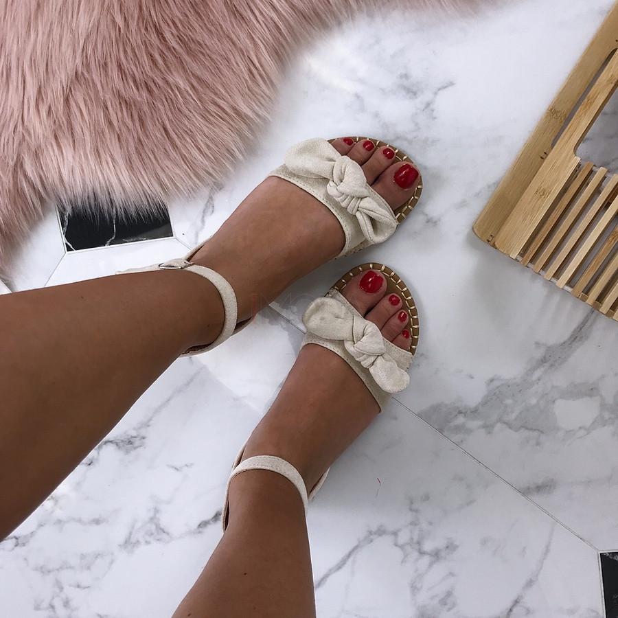 Dámske pohodlné béžové sandálky-184889-32