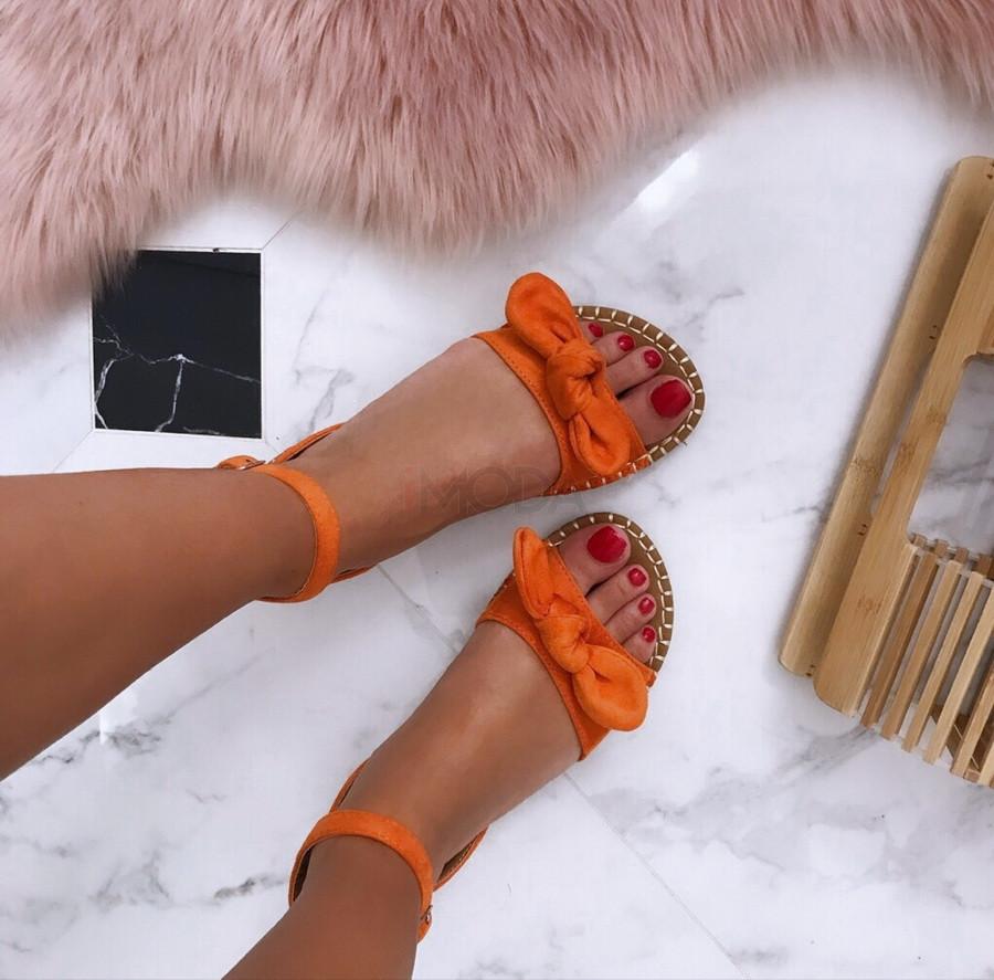 Dámske pohodlné oranžové sandálky-185070-31