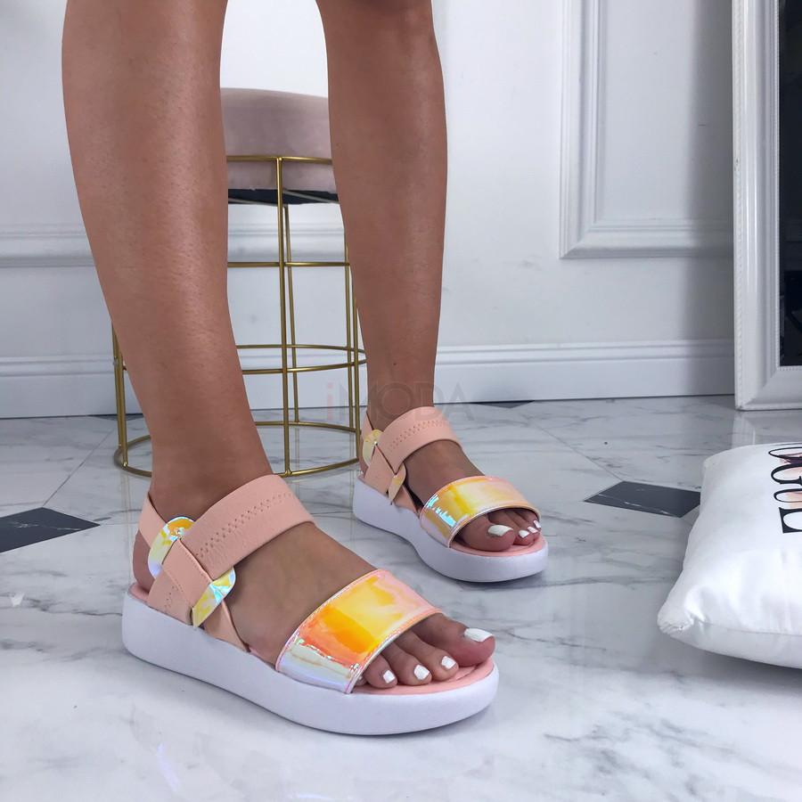 Ružové nasúvacie sandálky-207095-36