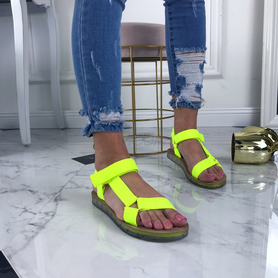 Neónové pohodlné sandálky-207494-31