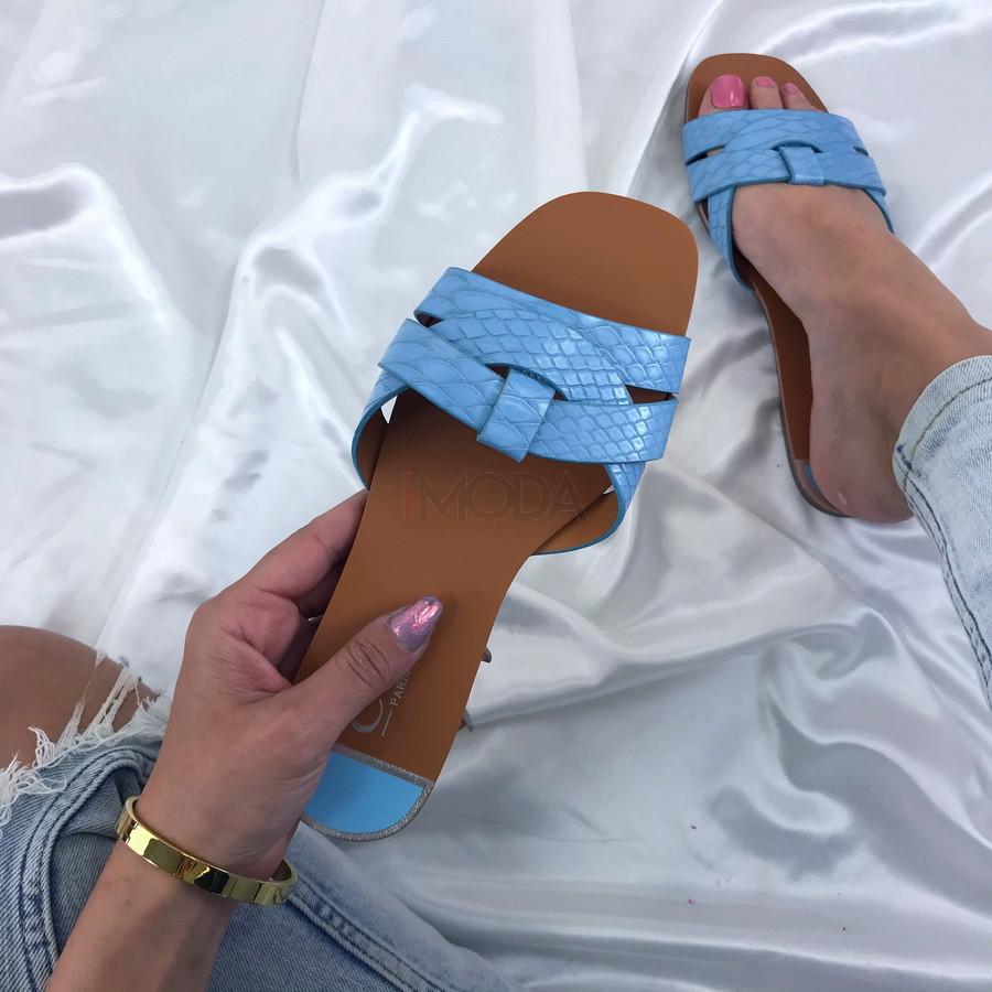 Modré dámske šľapky-207966-36