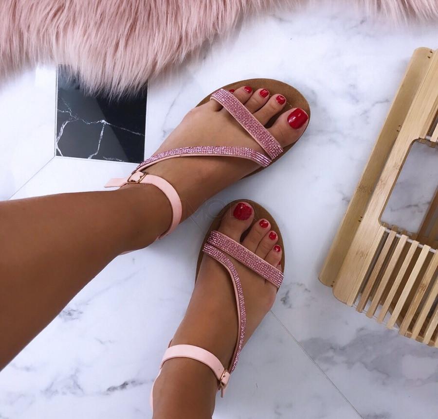 Ružové letné sandále-186116-31