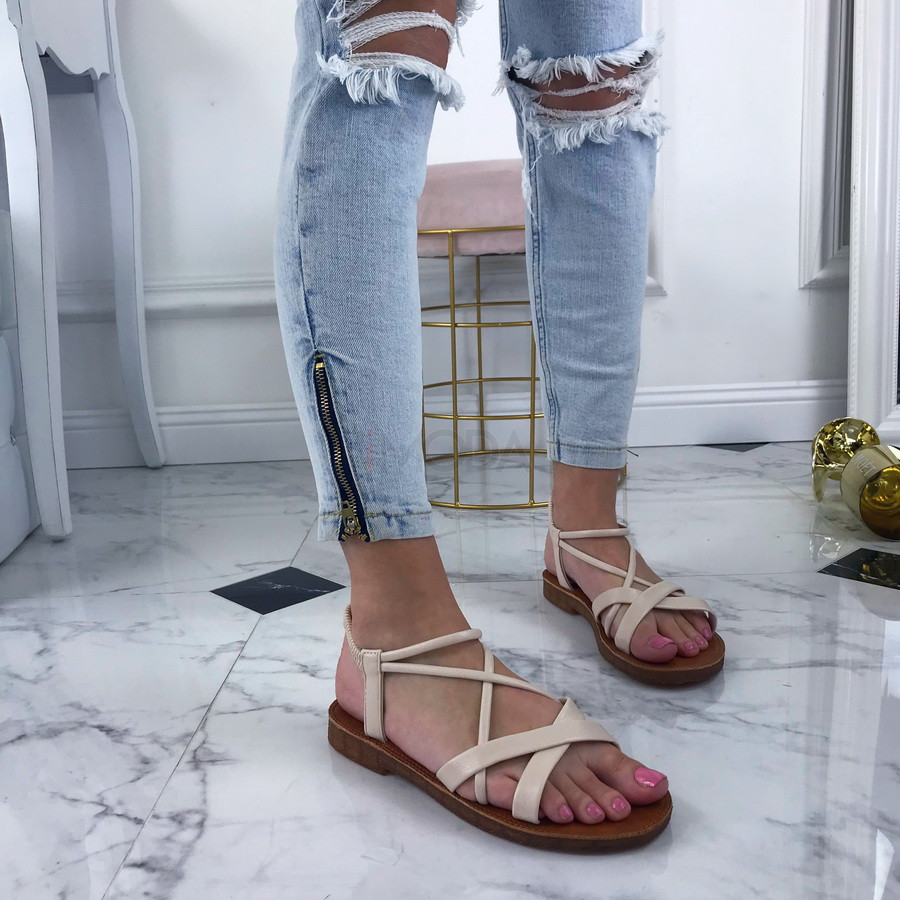 Bežové dámske sandále-208388-33
