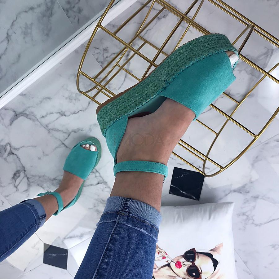 Dámske tyrkysové sandálky-200476-35