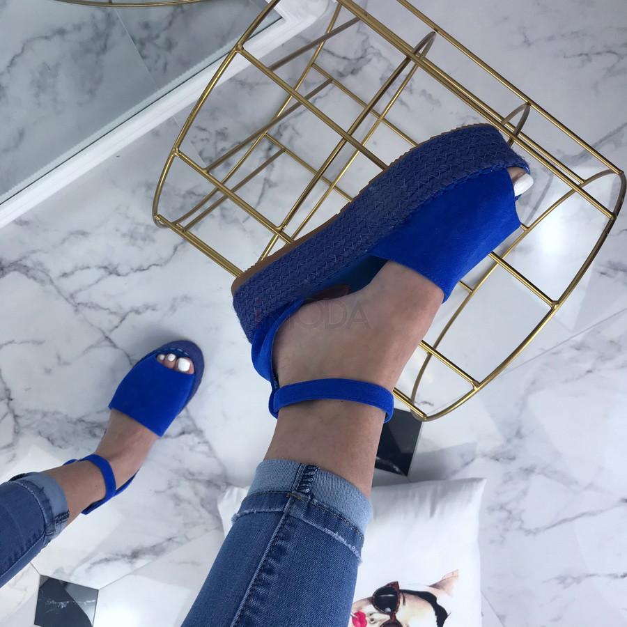 Dámske modré sandálky-200493-37