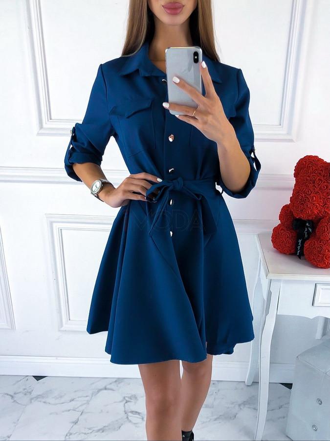 Modré elegantné šaty-220099-33