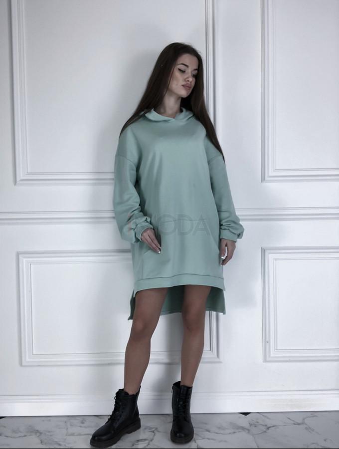 Mentolové oversize šaty-225824-36