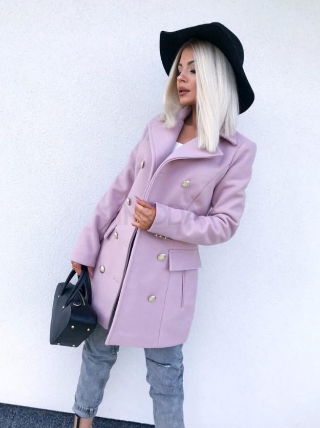 Dámsky ružový elegantný kabát-195577-312