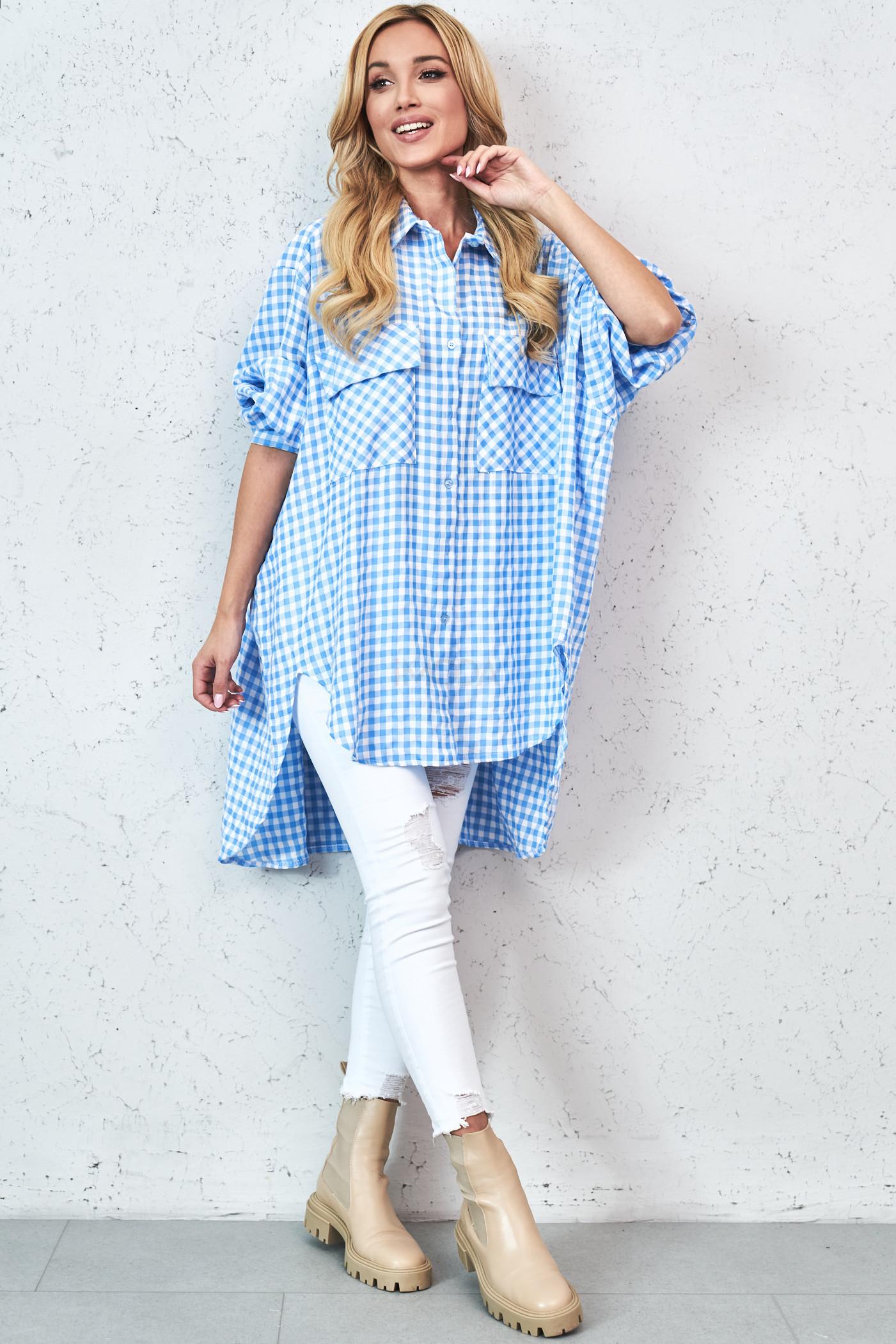 Modrá trendová oversize košeľa-229830-32