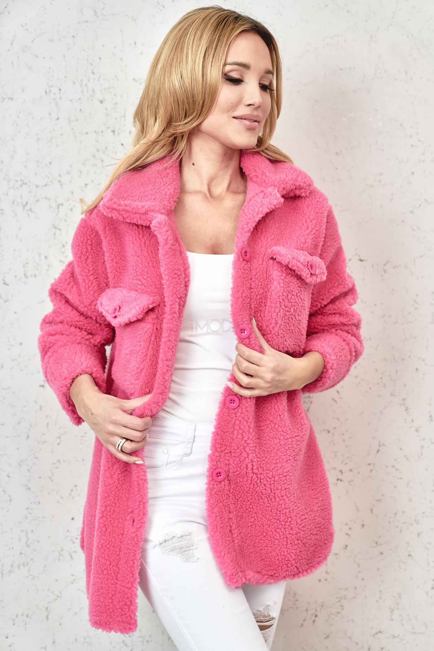 Ružový teddy kabát-229828-31