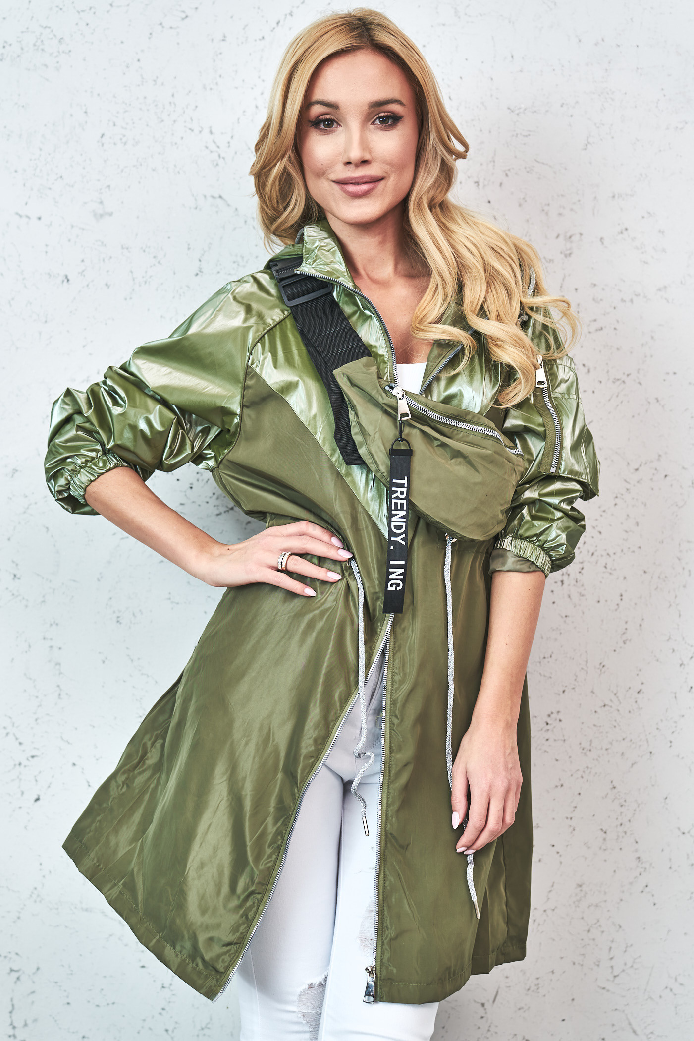 Zelená prechodná bunda s ľadvinkou-229877-33