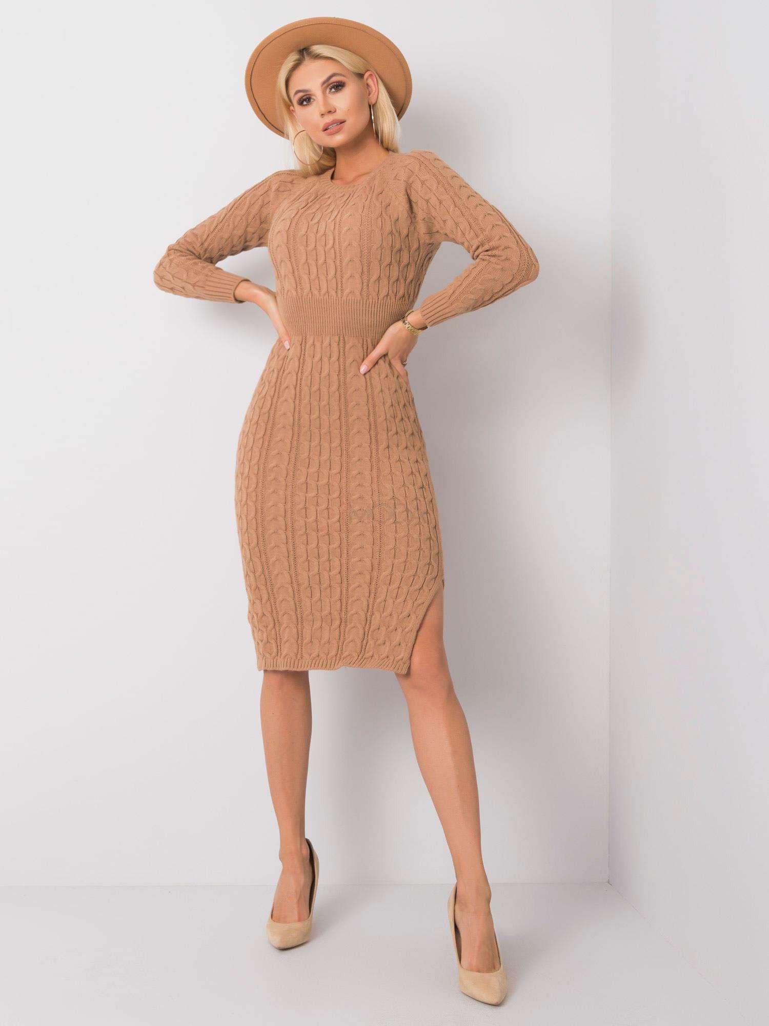 Hnedé pletené šaty-227277-31