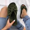 Zelené korkové  semišové šľapky