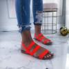 Dámske oranžové sandálky