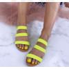 Dámske neónové sandále
