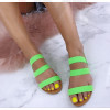 Dámske zelené sandálky
