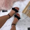 Dámske pohodlné čierne sandálky